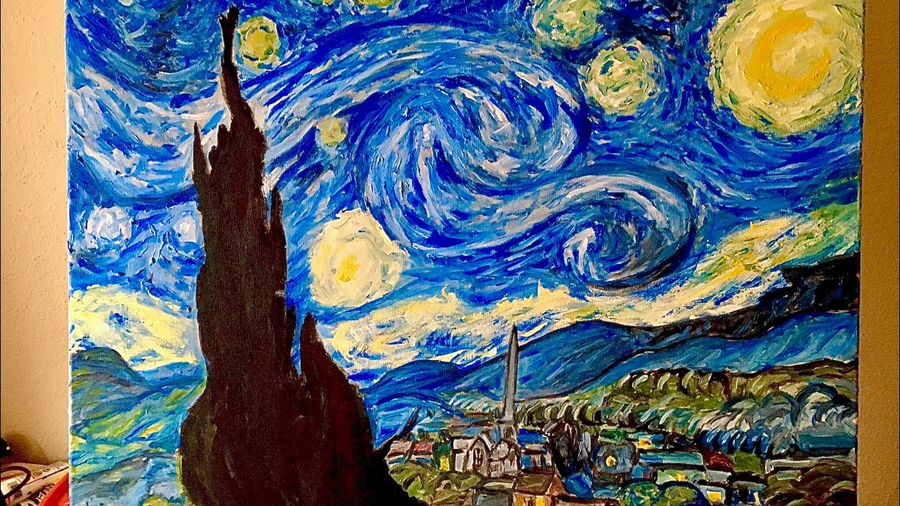 Remaking Starry Night by Van Gogh - YouTube