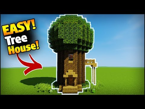 Minecraft How To Build Tree House Base Easy Tutorial