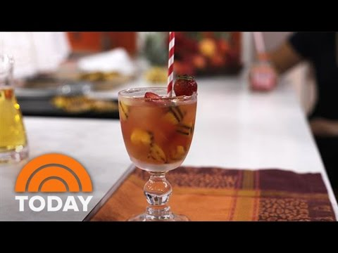 Camila Alves Makes Sangria With Grilled Peaches | TODAY