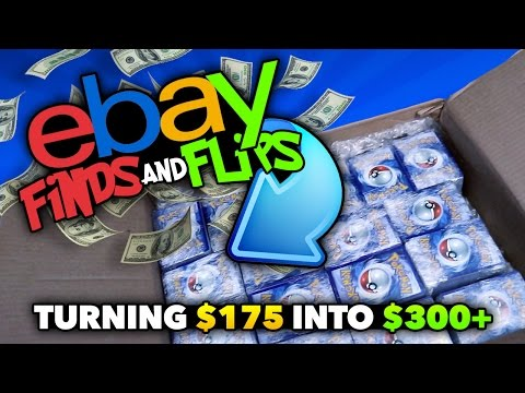 EBAY FINDS & FLIPS | How We Turned $175 into $300+!! 4500 Bulk Lot of Pokemon Cards