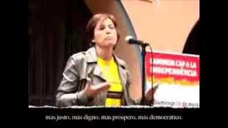 LA NAZI de carmen forcadell dice que los del pp y cs no son catalanes y que el enemigo es españa
