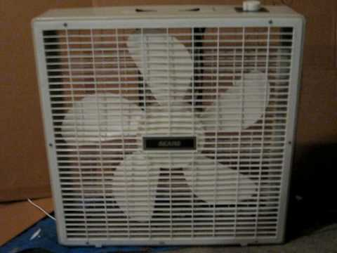 vintage sears by lasko 2 speed box fan youtube. Black Bedroom Furniture Sets. Home Design Ideas