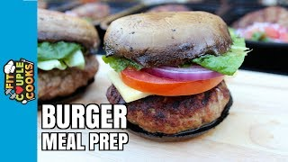 How to Meal Prep - Ep. 53 - LOW CARB BURGERS - GRILL MEAL PREP thumbnail