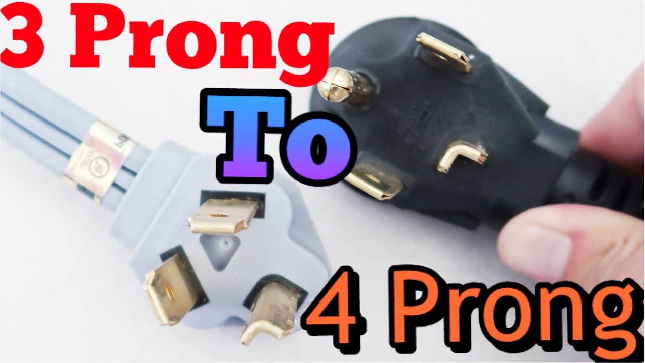 how to change a 3 prong dryer cord to 4 prong super easy 2018 youtube. Black Bedroom Furniture Sets. Home Design Ideas