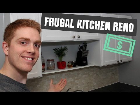 Frugal Kitchen Renovation - Before and After!