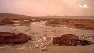 #السعودية .. ملامح المطر في شمال المملكة