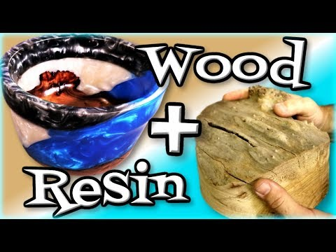 Woodworking Lathe Epoxy Bowl