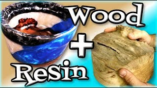 Woodworking Lathe Epoxy Bowl