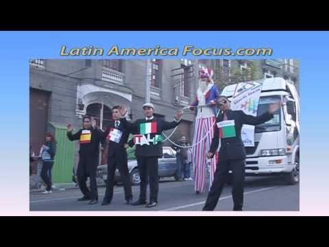 Obama Puppets - President Evo Morales Edward Snowden Rumor - Bolivia Parade