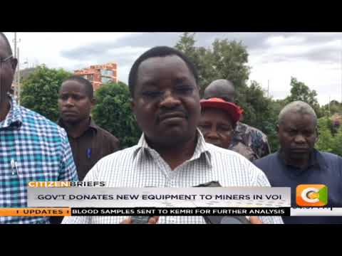 Government Donates New Equipment To Miners In Voi