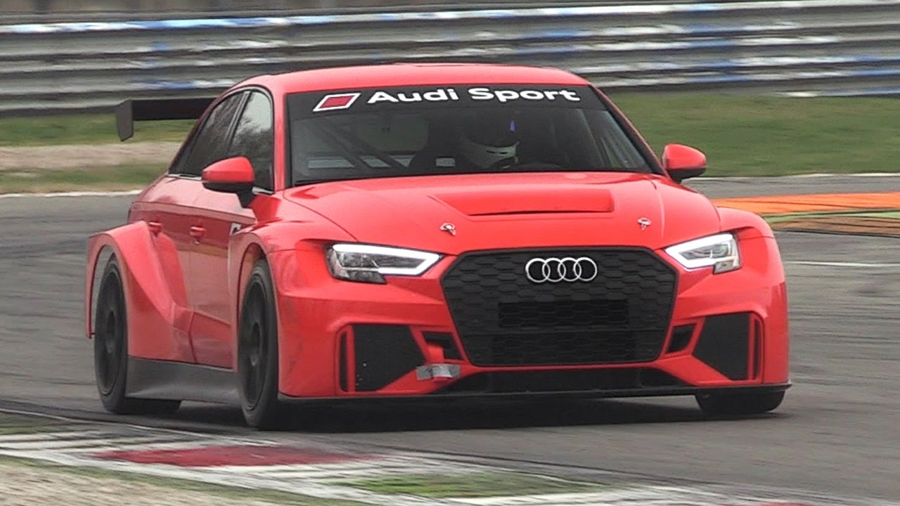 2017 Audi RS3 LMS TCR Sound Testing on Track! - YouTube