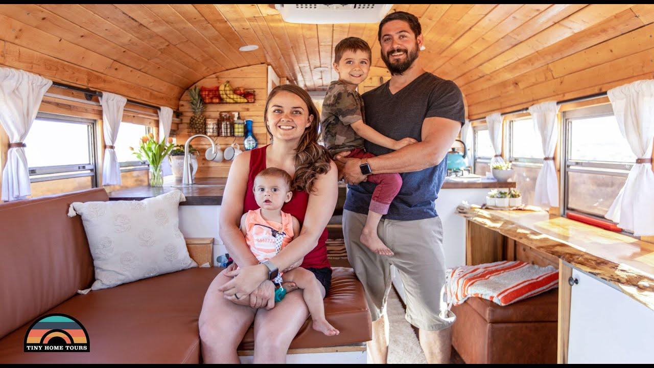 Beautiful DIY $11K School Bus for Veteran Couple & Their Young Children