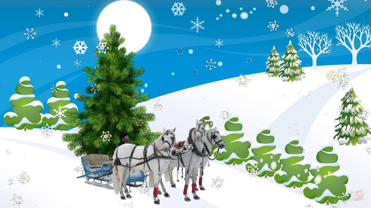 Новогодний утренник в детском саду/новогодний футаж/В лесу ...