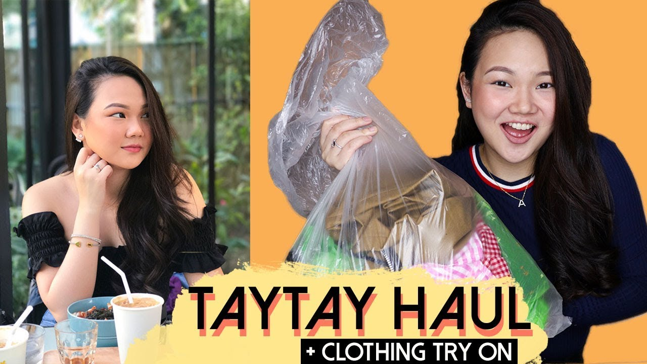 2018 TAYTAY HAUL + CLOTHING TRY ON (& mini give-away!) | ASHLEY SANDRINE (PHILIPPINES)