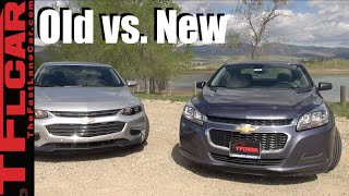 2016 Chevy Malibu vs 2014 Malibu: Old vs New Mashup Review