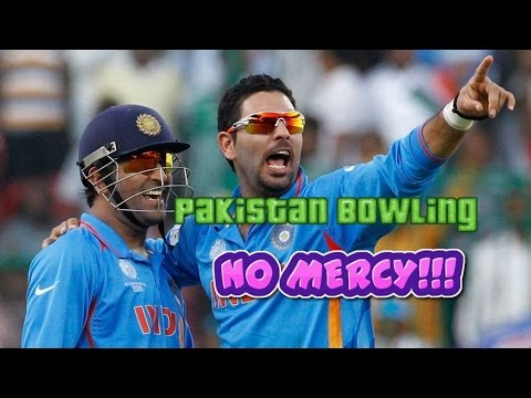 Dhoni and Yuvraj Playing with Pakistan Bowling | Best Partnership for India vs Pakistan **NO MERCY**