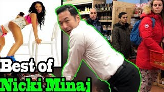 BEST of NICKI MINAJ - TWERKING IN PUBLIC COMPILATION by QPark!!