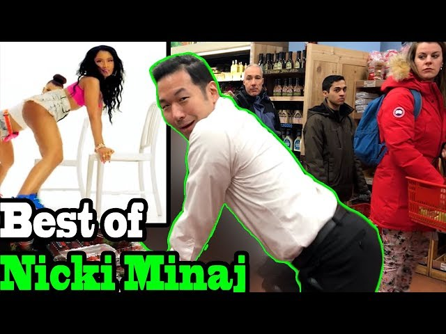 BEST of NICKI MINAJ - TWERKING IN PUBLIC COMPILATION by QPark!!