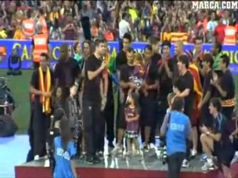 Champion Ibrahim Afellay Wears the Amazigh Flag - Champions league Final  2011