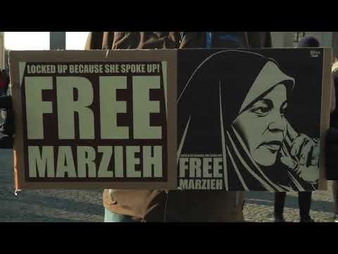 #FreeMarziehHashemi Protest in Berlin against arrest of US-Iranian Press TV journalist