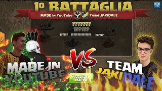 MADE IN YOUTUBE VS TEAM JAKIDALE - LUKE & TOLA VS JAKIDALE - TORNEO CLASH OF CLANS