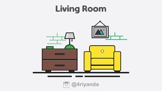 Living room💻 illustration icon using adobe illustrator