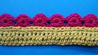 Crochet border Кайма вязание крючком Урок 354