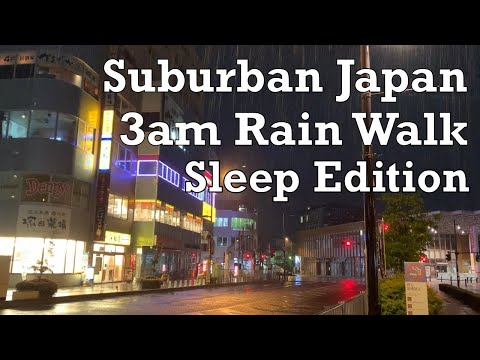 For Sleep - Japan Heavy 3am Rain Walk 2019.7.14 Sound of Rain Relaxation Meditation by tkviper.com