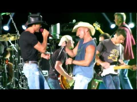 Tim McGraw and Kenny Chesney She Thinks My Tractor's Sexy! Atlanta GA 6-3-12