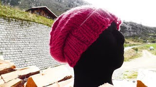 How to knit a long beanie for lefties - Woolpedia®