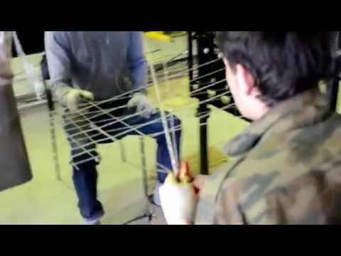 Производство стеклопластиковой композитной сетки