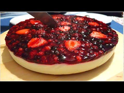 TARTA DE QUESO Con Frutos Rojos - CHEESECAKE Sin Horno 2019