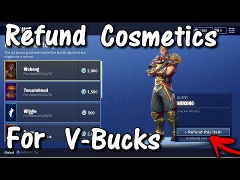 How To REFUND Skins For V-Bucks! *MUST WATCH* (Fortnite Battle Royale Free V-Bucks)