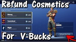 How To REFUND Skins For V-Bucks! *MUST WATCH* (Fortnite Battle Royale Free V-Bucks)