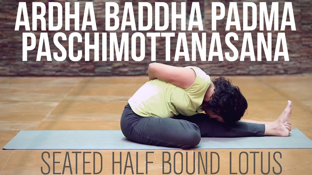 how to do ardha baddha padma paschimottanasana seated