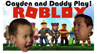 My Dad and I play Roblox! Shadow Run! Epic!