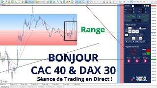 #DAX30 CFD - Séance de Trading en Direct - Bonjour CAC40 & DAX30 le 29/11