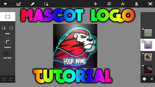 how to make tiger mascot logo on android 2018||new style|| @tutorial army
