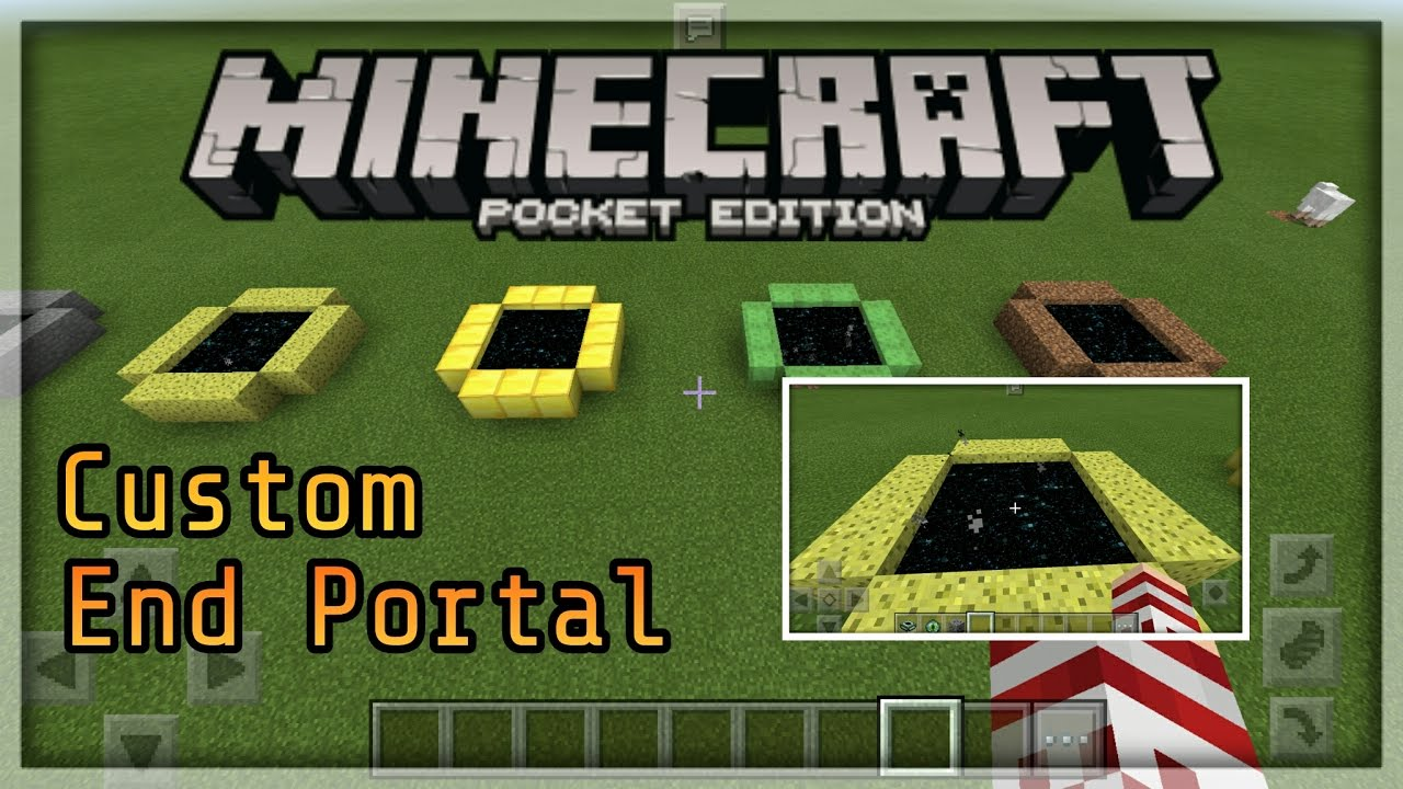 how to build an end portal in minecraft pocket edition