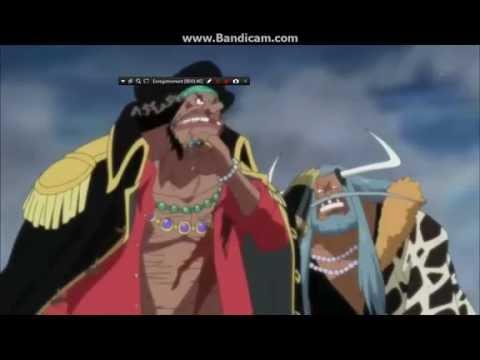 One Piece - Barbe noire vs Sengoku