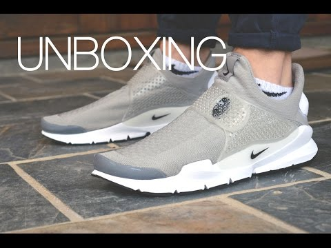 UNBOXING: Nike Sock Dart // Grey White // On-Feet // Thanks for 500 Subscribers