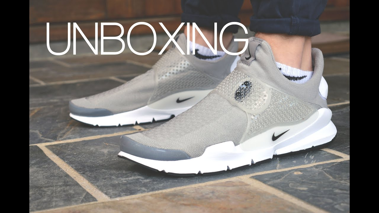 super popular c91e1 b5336 UNBOXING  Nike Sock Dart    Grey White    On-Feet    Thanks for 500  Subscribers