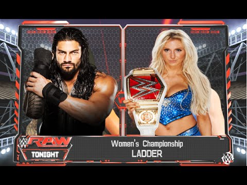 WWE 2K16 - Roman Reigns vs Charlotte - Women's Championship Match
