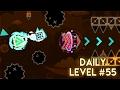 "DAILY LEVEL #55 | Geometry Dash 2.1 - ""Dinosaur"" by Alkali | GuitarHeroStyles"