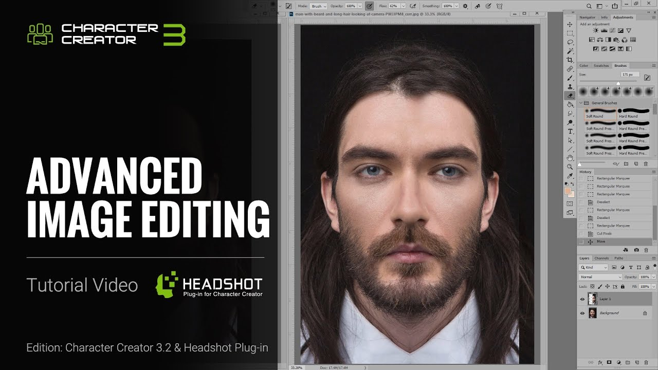 Headshot Plug-in Tutorial – Advanced Image Editing – by 3Dtest