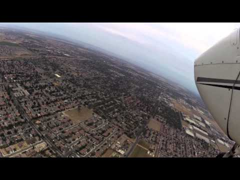 Watch us fly into Madera Airport - California