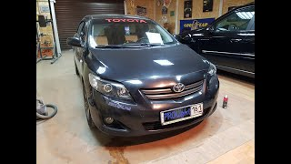 Toyota Corolla. Установка биксеноновых линз Hella 3R Premium + скрытая установка ксенона.