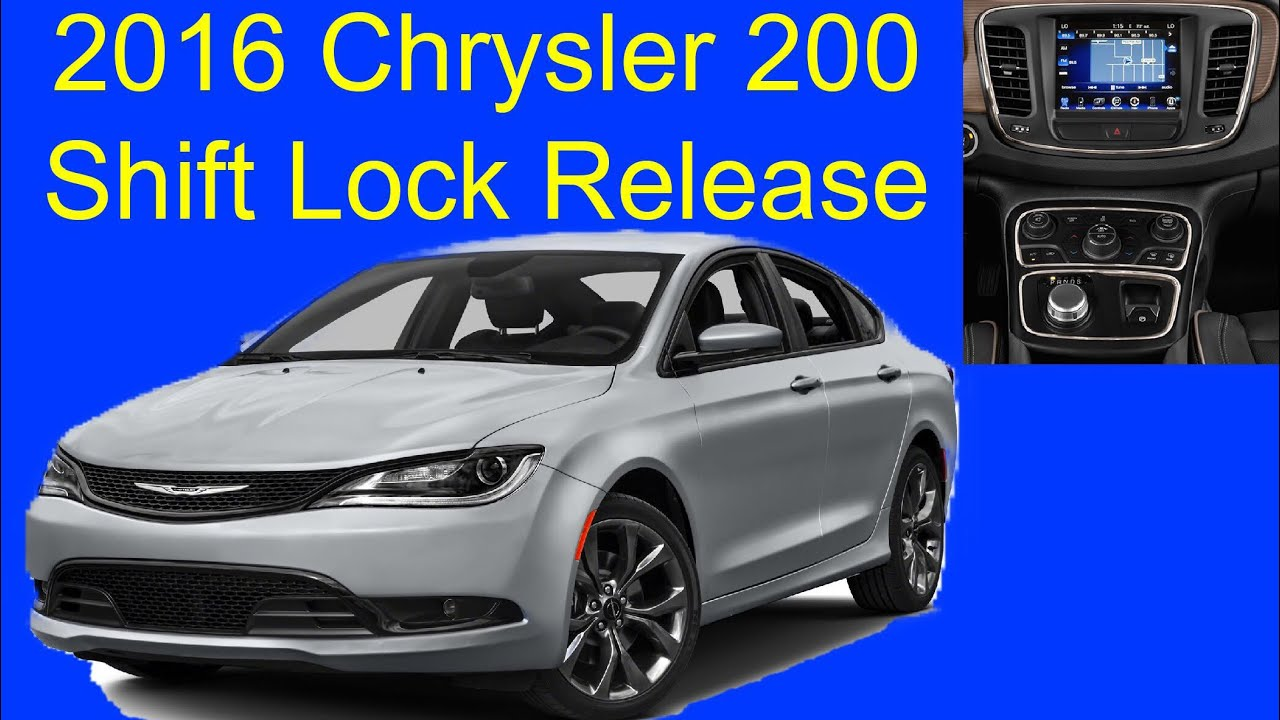 Chrysler 200: Shift Lever Override