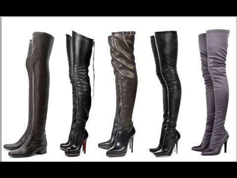 Зимние черные сапоги-ботфорты Lorelei на низком каблуке - YouTube
