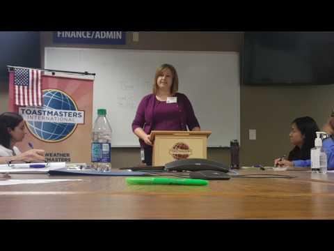 Fair Weather Toastmasters---Tracy Hinojosa